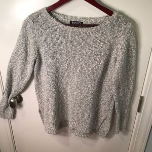 Gray Textured Wool Sweater